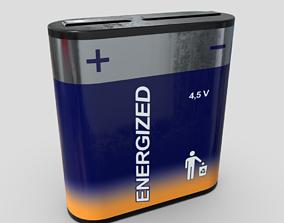 Battery 4 5 V 3D asset