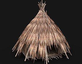 3D asset SIMPLE TRIBAL JUNGLE PRIMAL HUT HOUSE TENT TREE