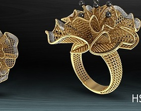 design jewellery 3D model gold-ring models