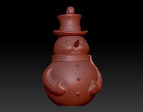 3D print model Snowman fantasy statue