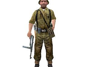 WWII German Soldier 3D asset