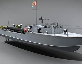 Mitsubishi T14 torpedo boat 3D model