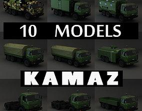 Collection Truck Kamaz 3D