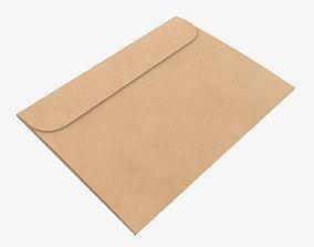 3D Gift paper envelope mockup
