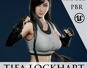 3D model rigged Tifa Lockhart - Game Ready