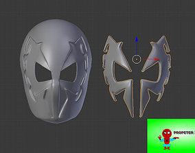 3D printable model Faceshell Spider-Man 2099 plus lenses