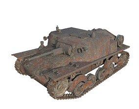 Abandoned tank 02 3D model