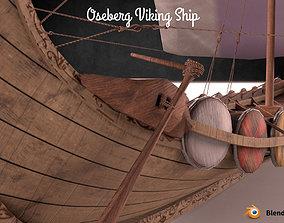 Oseberg Viking Ship Low-poly 3D model low-poly PBR