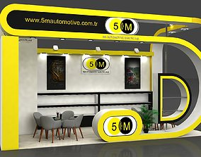 5M Exhibition Stall Size 8 m x 4 m Height 366 cm 3D model