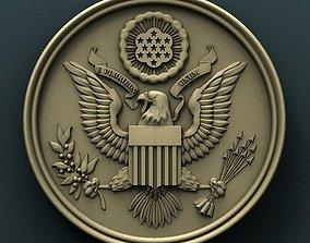 USA Seal 3d stl model for cnc