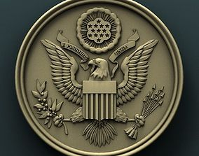 USA Seal 3d stl model for cnc