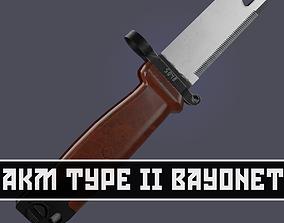 3D asset AKM Type 2 Bayonet