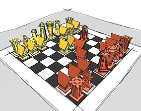Chess Set board 3D print model