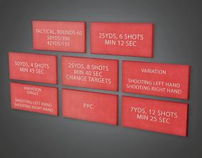 FGR - Firing Range Wall Signs - PBR Game Ready 3D asset