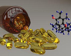 3D model Vitamin E