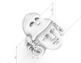 warior athena goddess ring 3D printable model