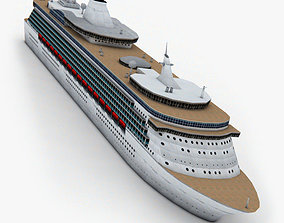 3D asset Cruise Ship 2