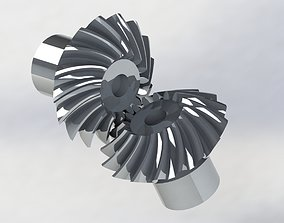 Spiral Bevel Gear - RATIO 1 - TOOTH 16 16 3D print model