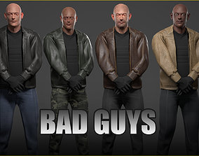 Unity Ready Bad Guys - Bodyguards Pack - 3D model