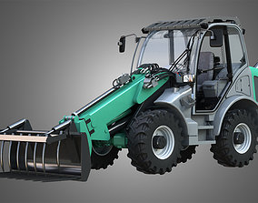 Loader KL80-8T with Fork with Grapple - Front 3D model