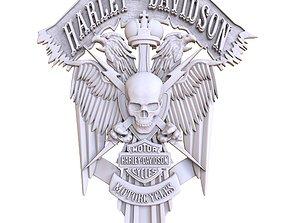 bas-relief Harley-Davidson 3D printable model