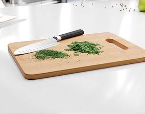 Wooden cutting board 3D