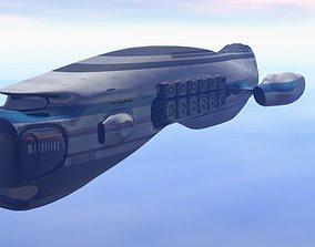 3D model Exxon Cargo Starship