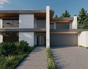 house residental Modern House 3D model