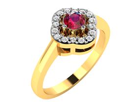 sterling Women bride solitaire ring 3dm render detail