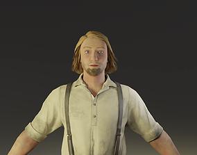 3D model Farmer Peasant Man