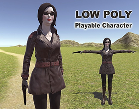 Spy Woman 3D asset