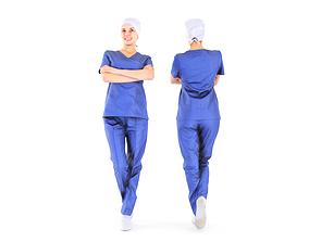 Scanned medical nurse 08 3D model