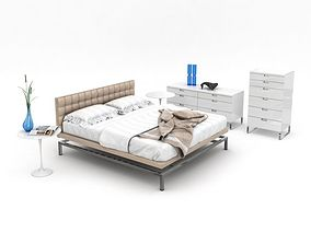 Clean Modern Bedroom Set 3D model
