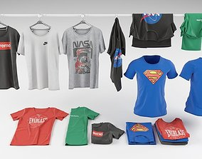 3D model T-shirt collection