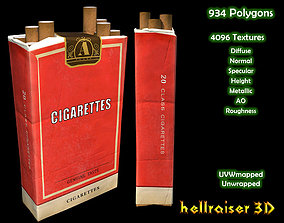 3D model Cigarette Box - PBR - Textured