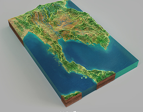 nature Thailand Terrain 3D Map