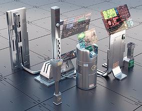 sci fi atm asset 3D model