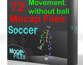 9-Soccer football Mocap animations - Movement without 3D 1