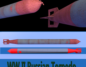 WW II Russian Torpedo 3D model