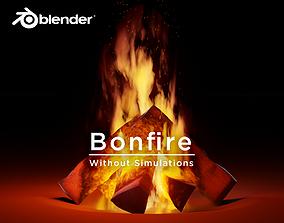 3D model Animated Bonfire for Blender without Simulations