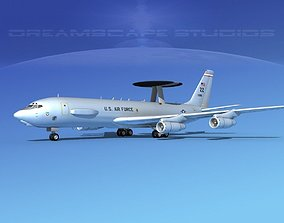 Boeing E-3C Sentry ZZ USAF 3D model