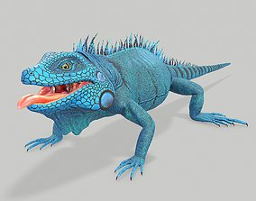 3D model Iguana Blue