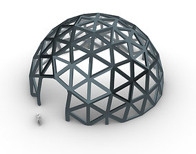 Geodesic Dome V2 Large with Frame and Panels and 3D