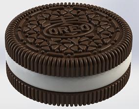 Detailed Oreo Box 3D print model cookie