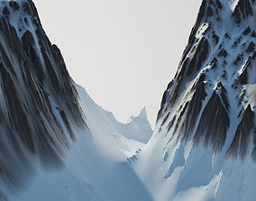 3D model hill Snow Covered Mountain