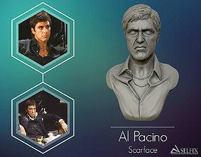 Scarface Alpacino portrait sculpture 3D printable model