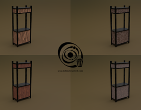 Trade stand 05 4in1 R - 4 PBR Texture 1 Model game-ready