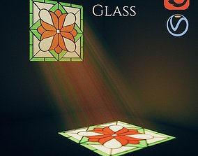rose 3D Stained Glass