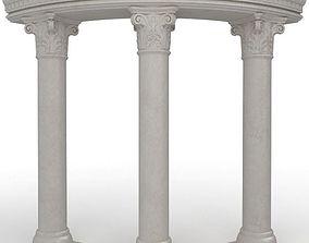 3 Stone Columns 3D model