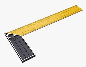 Carpenter ruler L-shape 3D